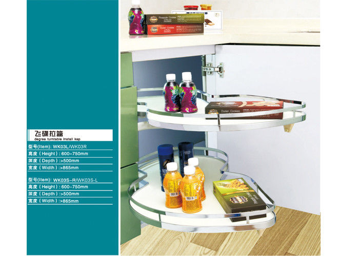 Chrome Plated Modern Kitchen Appliances Rack Holder  Muti - Functional