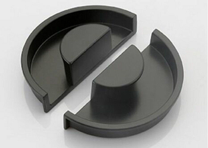 Black Zinc Hardware Pull Handles 90mm Kitchen Cabinet Pulls Good Stability