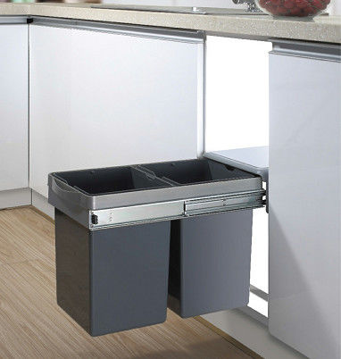 Durable Kitchen Cabinet Accessories Pull - Out Assembly Waste Bin For Storage